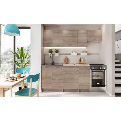 Kuchyně MELVIN 240 s PD dub truffle
