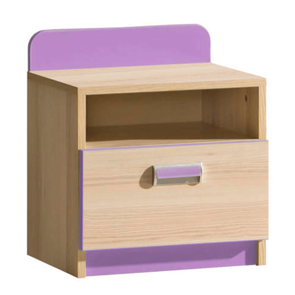 Noční stolek v jednoduchém moderním provedení fialový EGO L12