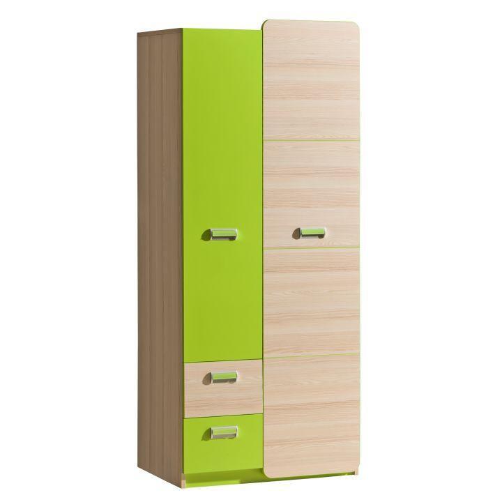 Věšáková skříň v jednoduchém moderním provedení zelená EGO L1