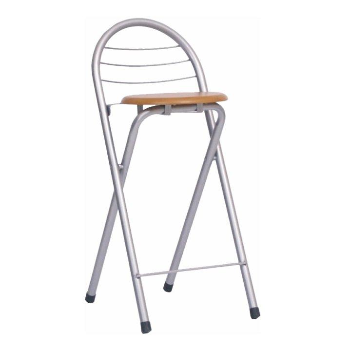 Barová židle v jednoduchém moderním provedení s chromovou konstrukcí buk BOXER