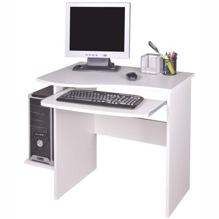 PC stůl ve stylovém moderním provedení bílá MELICHAR