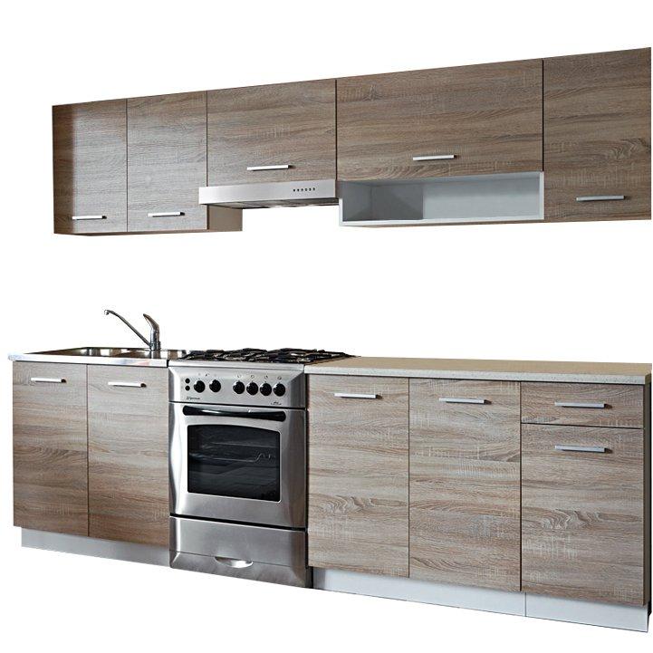 Kuchyňská linka CYRA NEW 250 cm dub sonoma