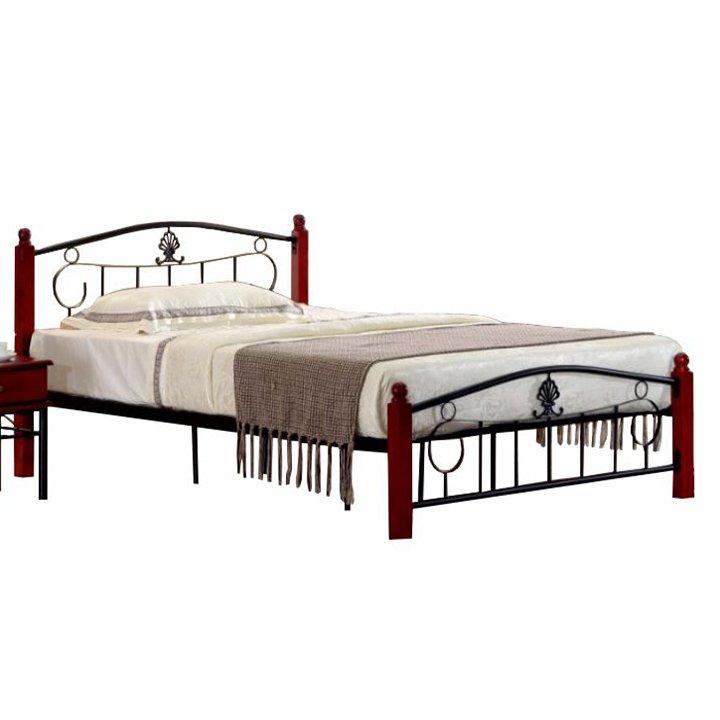 Manželská postel 140x200 cm s roštem TK4013