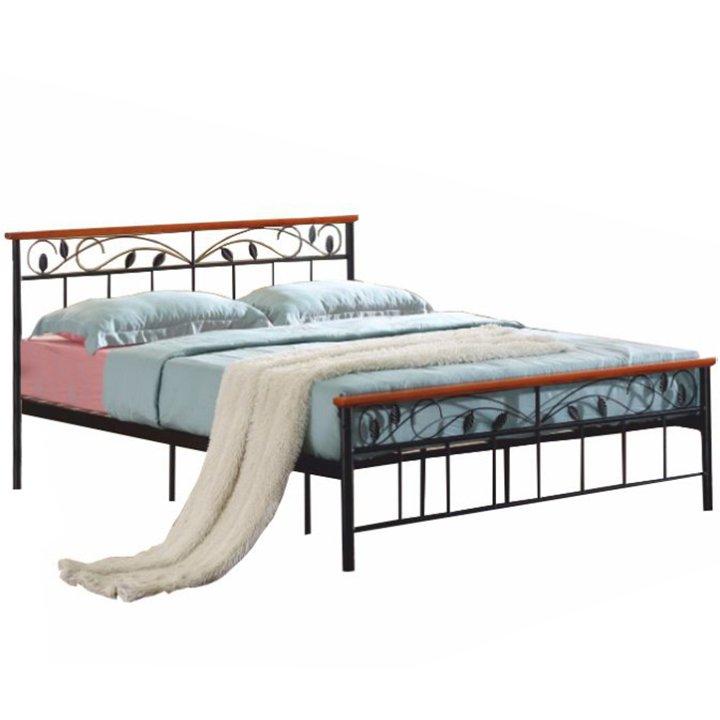 Manželská kovová postel 160x200 s lamelovým roštem TK4011
