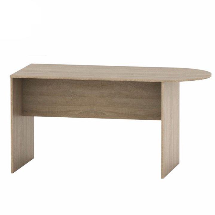 Kancelářský stůl s obloukem, dub sonoma, TEMPO AS NEW 022