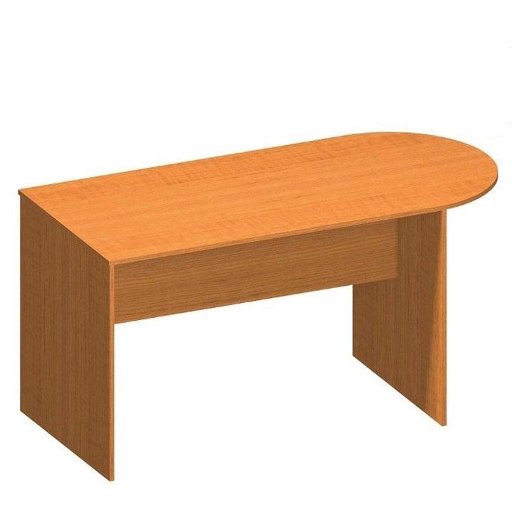 Kancelářský stůl s obloukem, trěšeň, TEMPO AS NEW 022