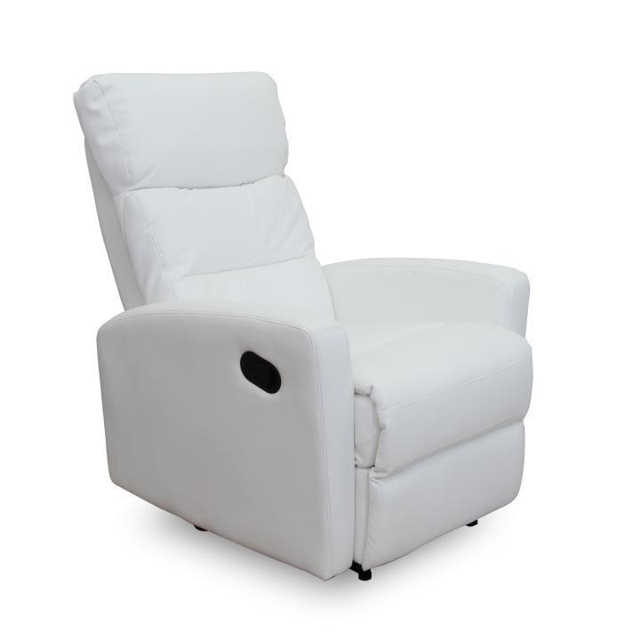 Relaxační křeslo v luxusním provedení bílá DERIL