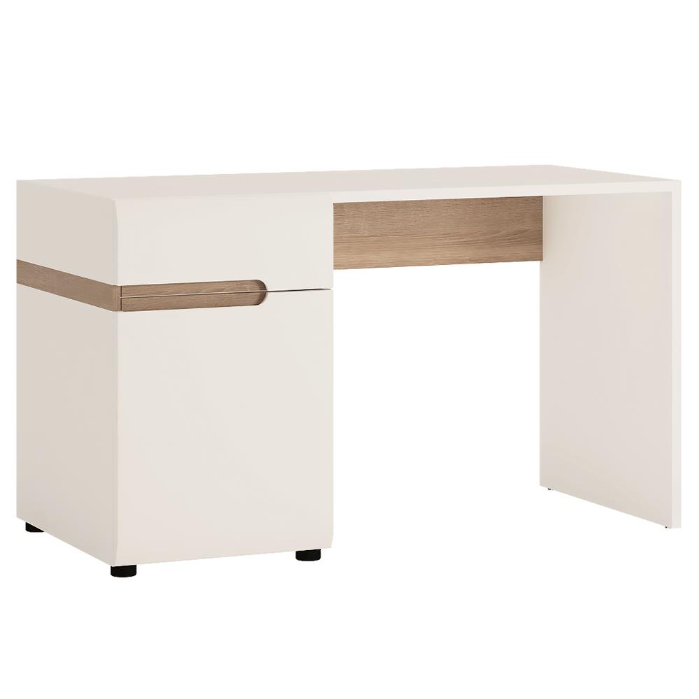 PC stůl bílý lesklý TK026