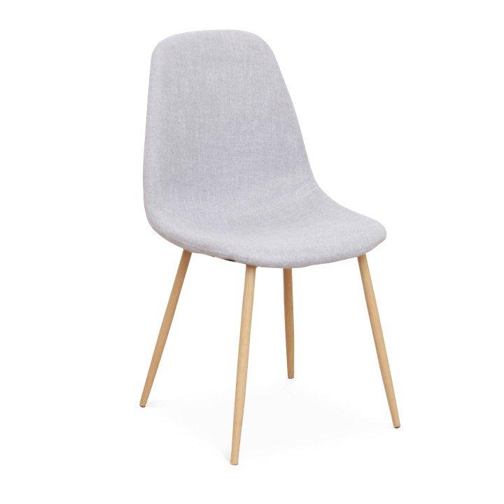 Jídelní židle ve světle šedé látce TK2026