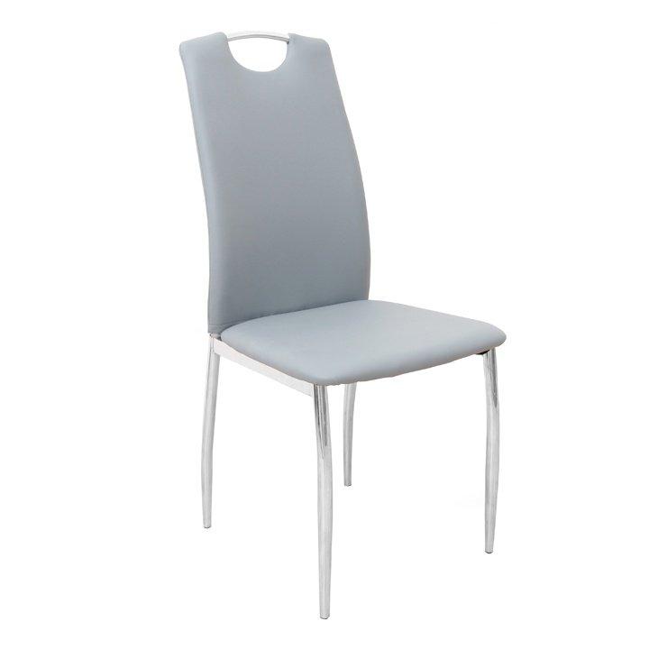 Jídelní židle z ekokůže v šedé barvě TK2031