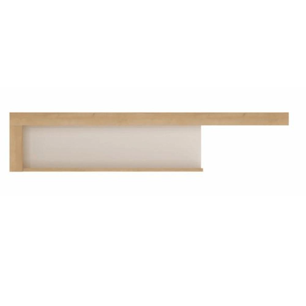 Police naruby v kombinaci bílé lesklé stěny a dekoru dubu typ 2 TK224