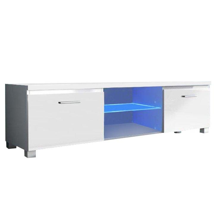 Levně TV stolek 150x40cm bílý lesk TK2143
