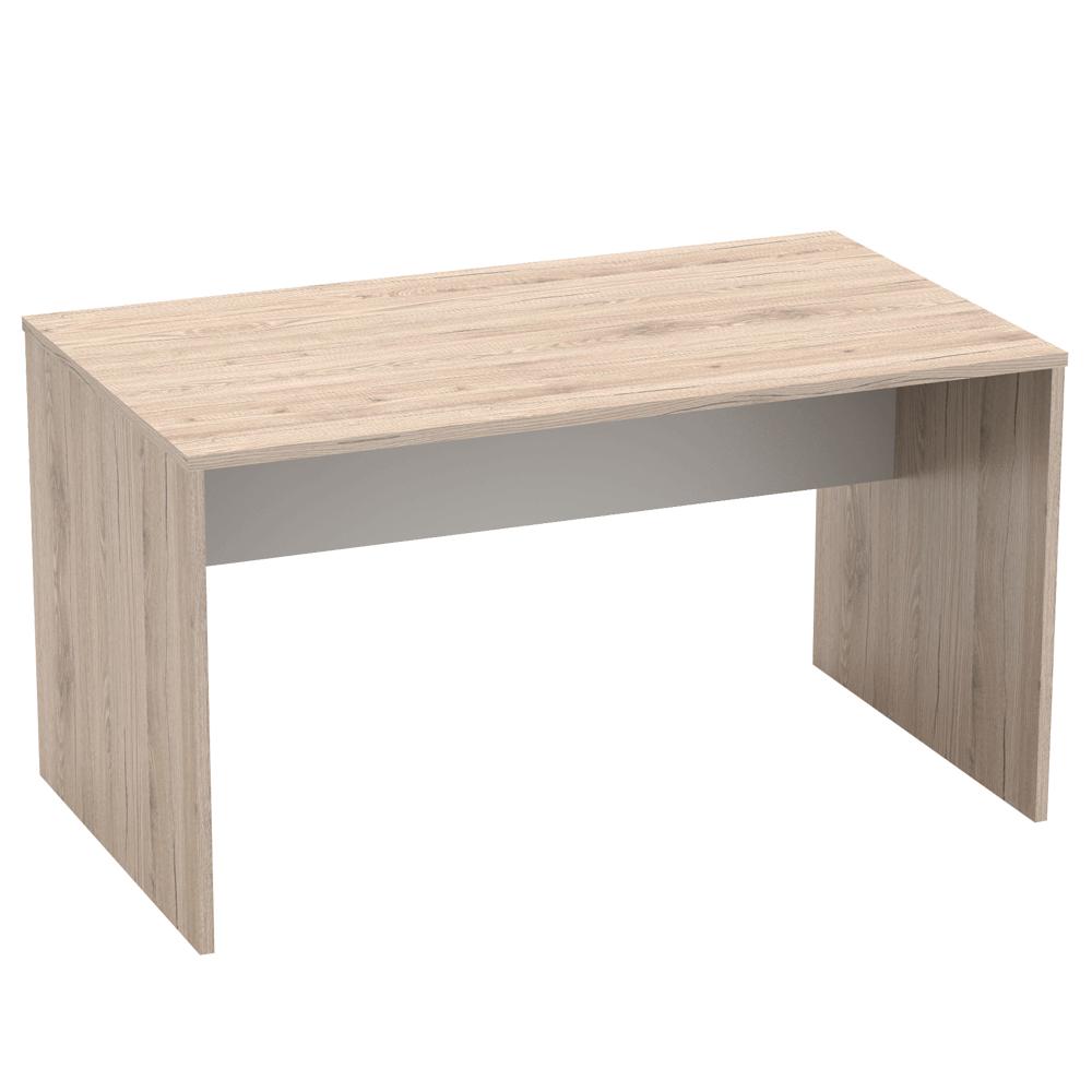 PC stůl 140x80 cm v kombinaci dub san remo a bílá Typ 11 TK2157