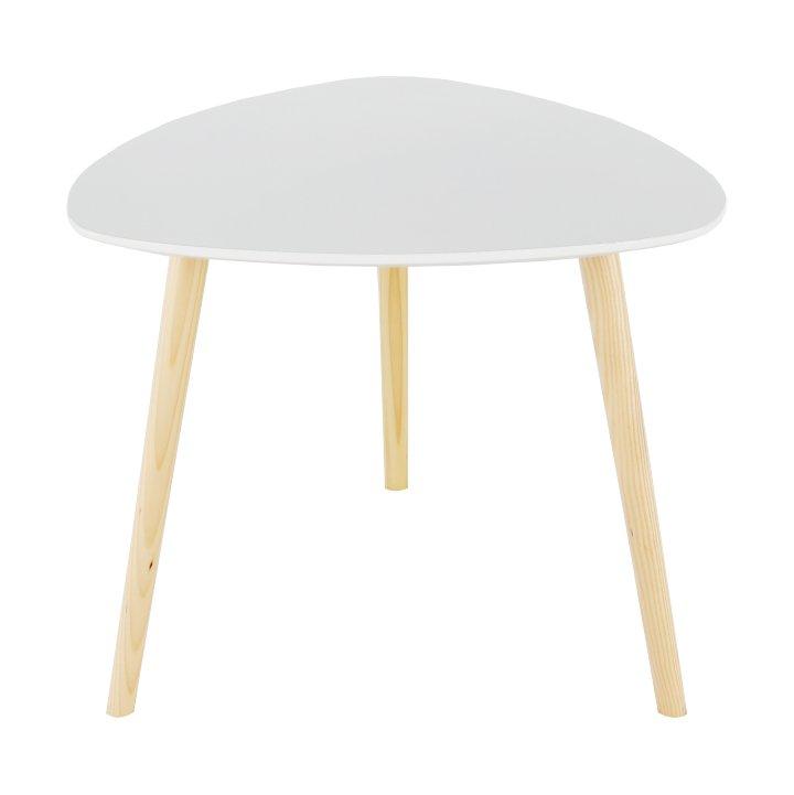 Příruční stolek 48x40cm s konstrukcí z přírodního dřeva TK2147