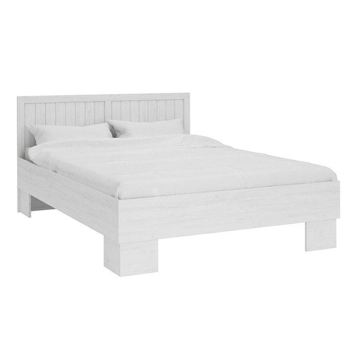 Manželská postel s roštem 160x200 cm v dekoru sosna andersen a dub lefkas L1 TK2161