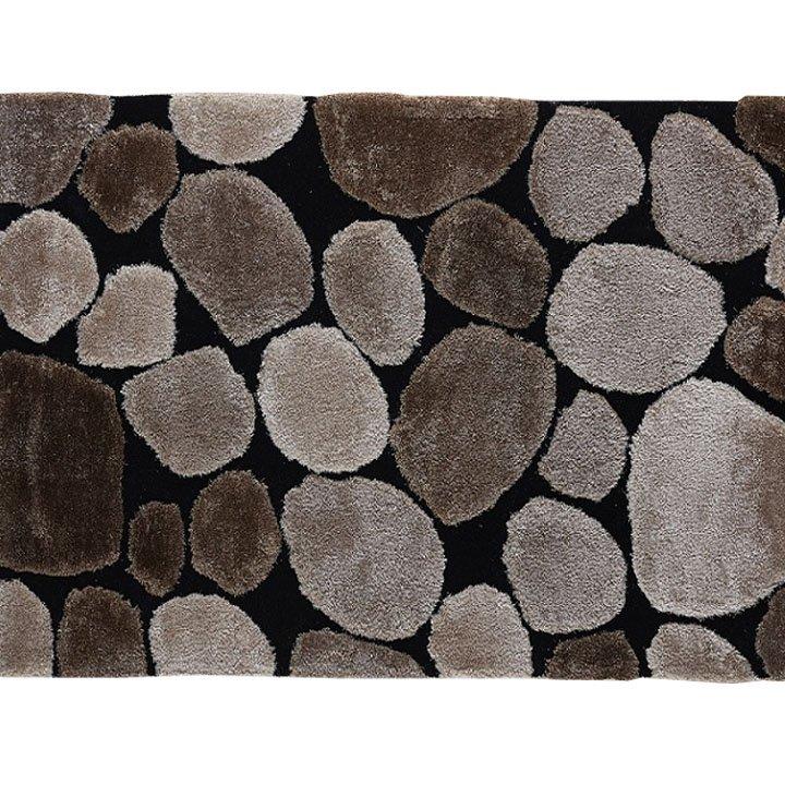 Koberec hnědý vzor kámen 70x210 TK3201