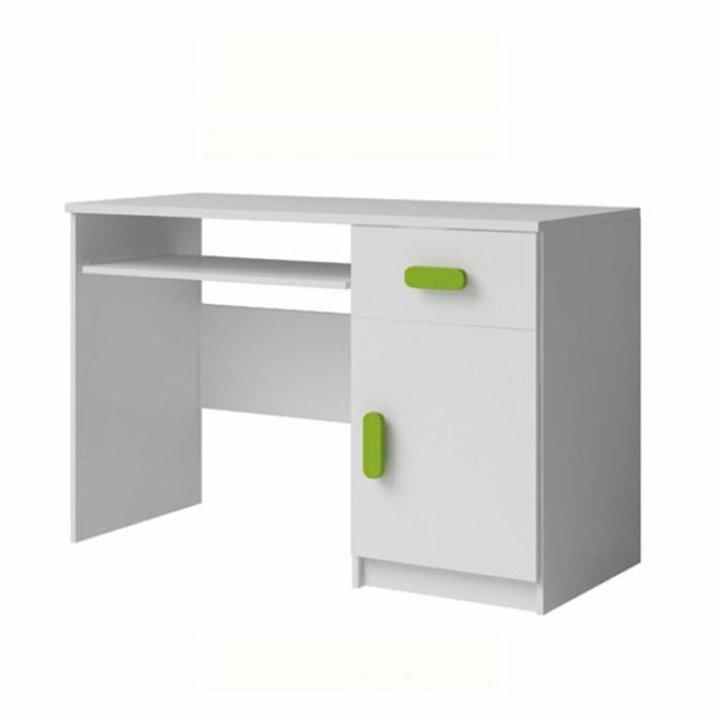 Levně PC stůl 110x50 cm v bílé barvě s ABS hranami TK2089