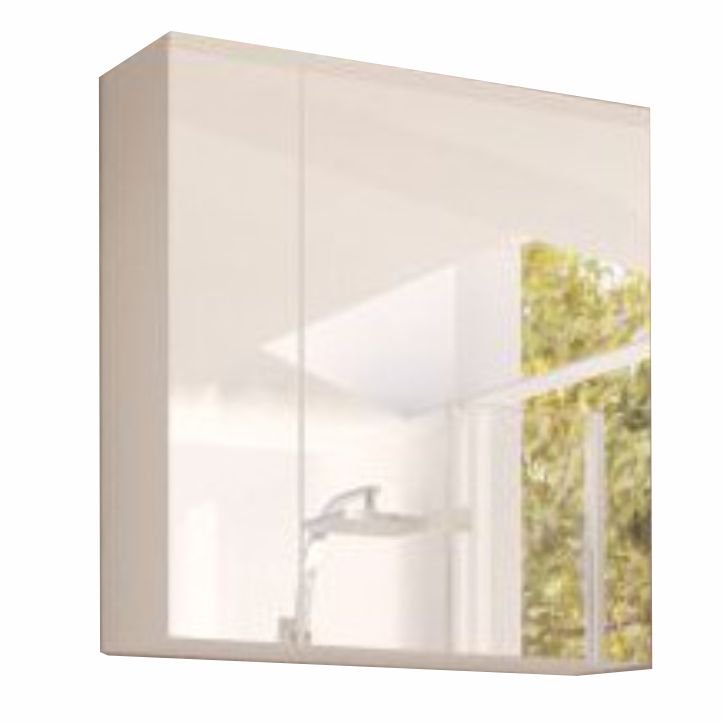 Levně Skříňka koupelnová se zrcadlem bílá WH14 TK3067