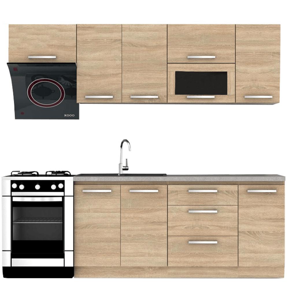 Kuchyňská linka 240 cm dub sonoma TK3306