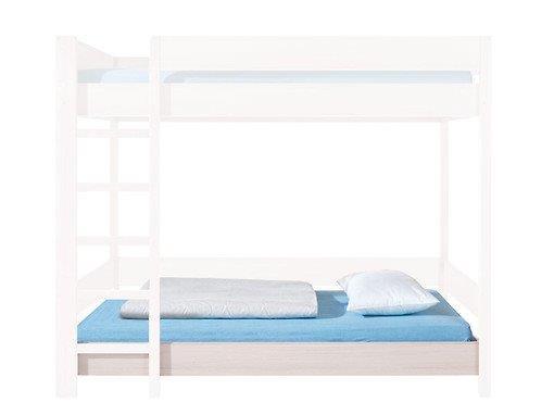 Spodní část patrové postele RUPI LOZ/80/PIETRO/DOL dub světlý belluno s roštem a matrací 80x180 cm