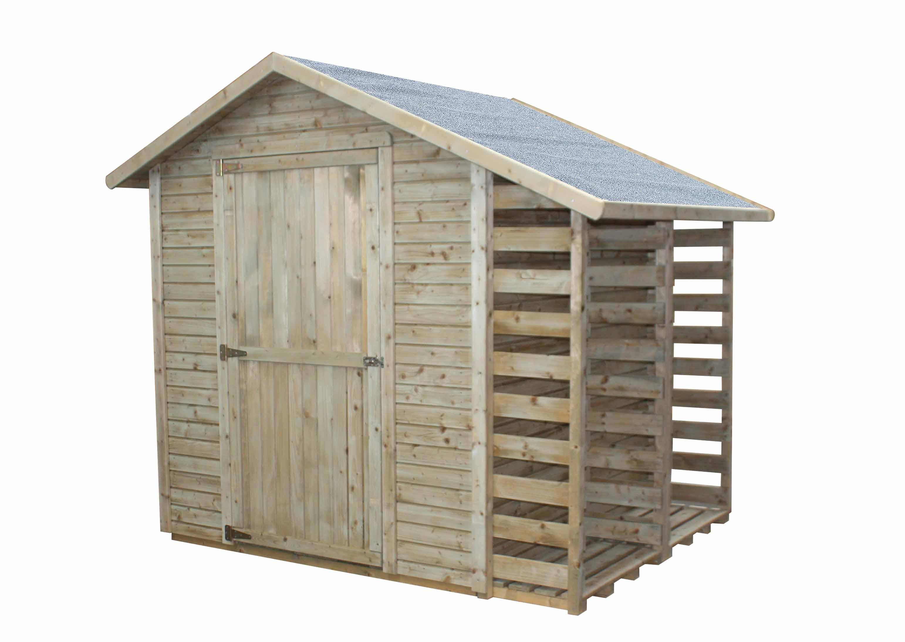 Zahradní domek s přístavkem na palivové dřevo