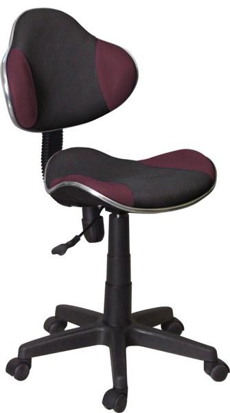 Dětská kancelářská židle - černá/fialová KN045