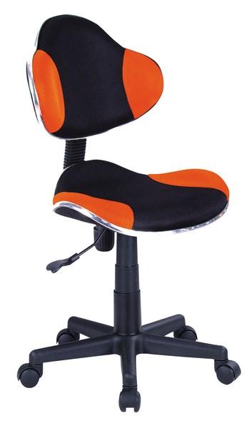 Dětská kancelářská židle - černá/oranžová KN045