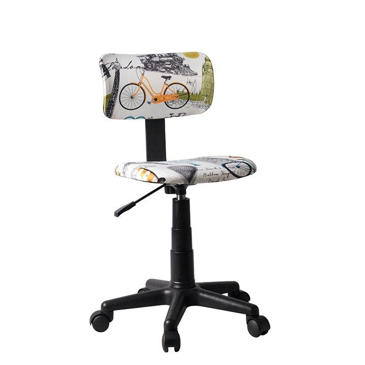 Otočná židle, látka vzor, KIDS