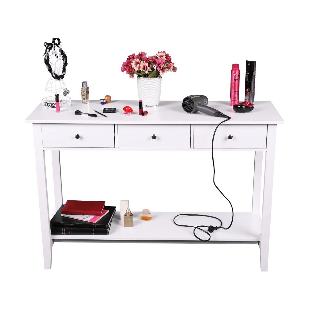 Konzolový stolek, bílá, REDON