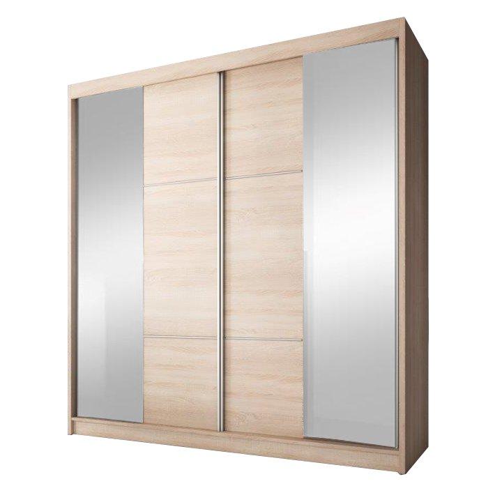 Skříň s posuvnými dveřmi, dub sonoma, 183x218, MULTI 36