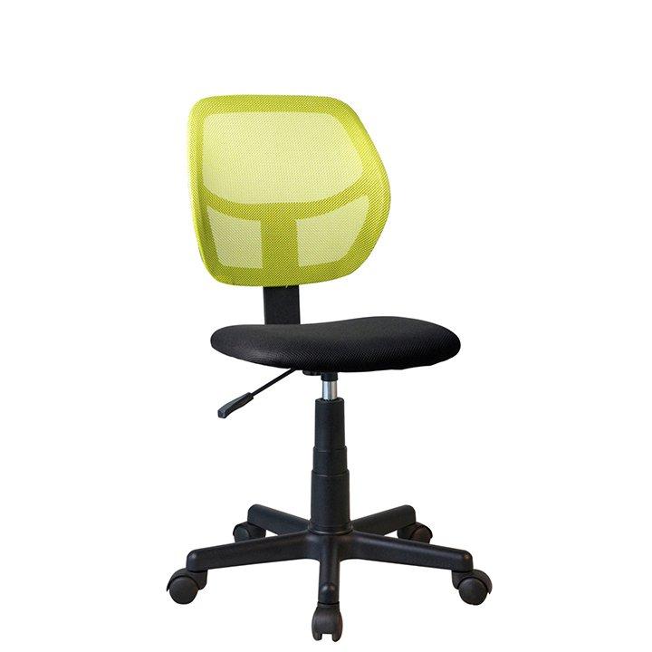 Otočná židle, zelená / černá, MESH