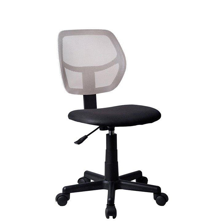Otočná židle, šedá / černá, MESH