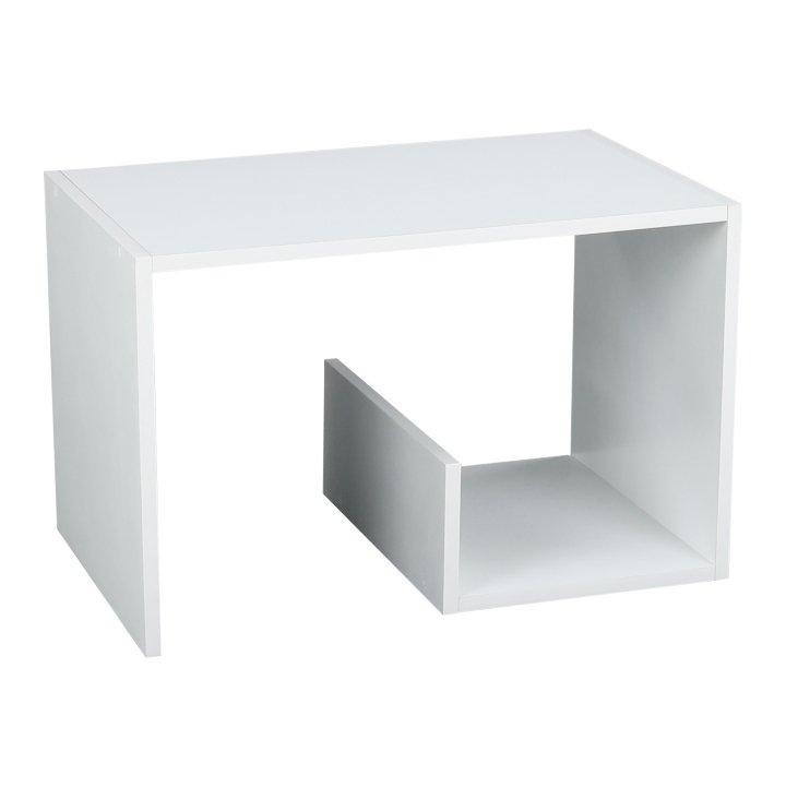 Příruční stolek, bílá, VOLKER