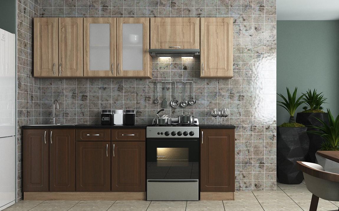 Kuchyně KVADRIS 240 walnut/sonoma