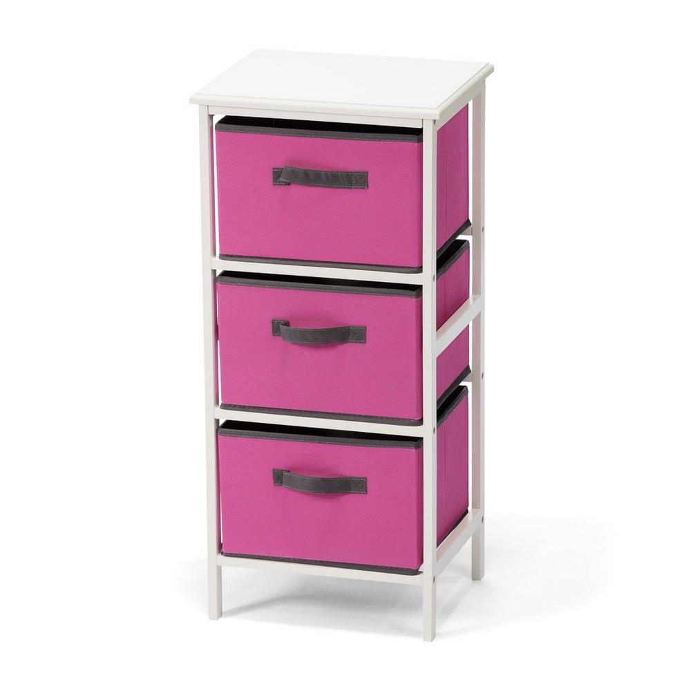 Komoda DT027 3 boxy růžová