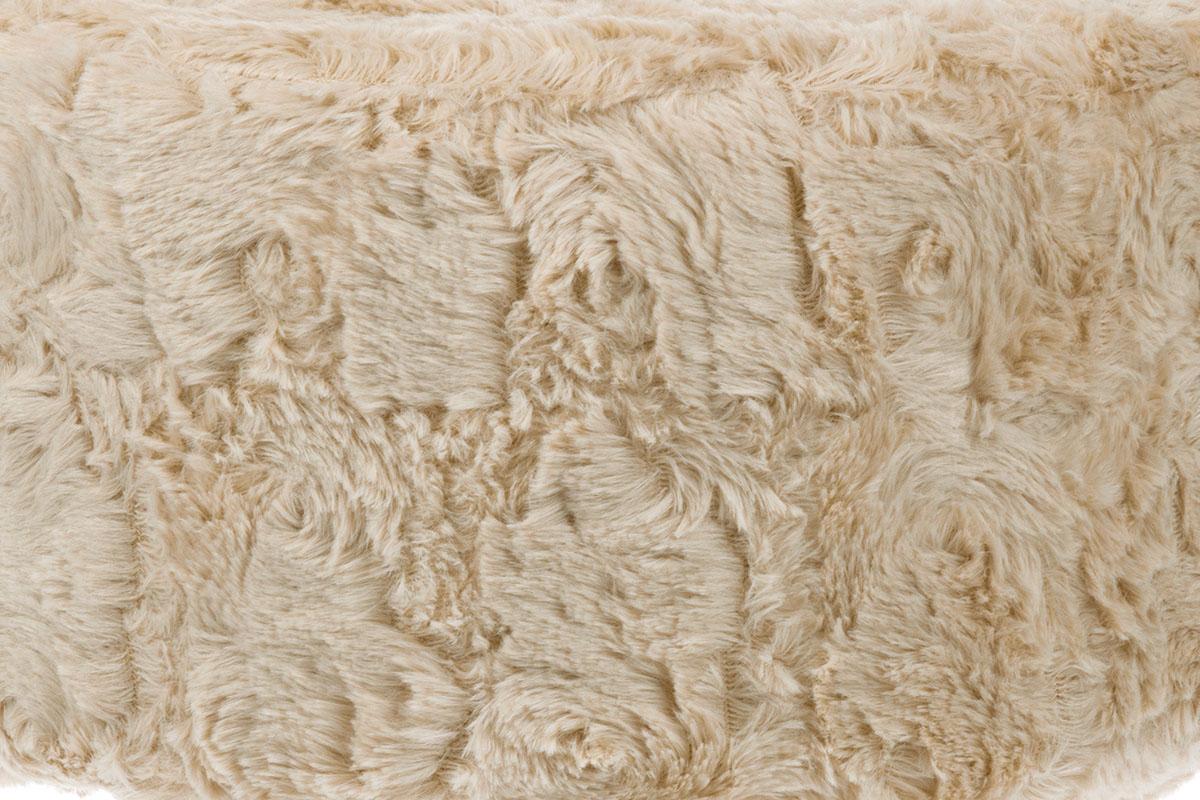 Taburet, béžová látka, dřevěné nohy LA2006-CREAM