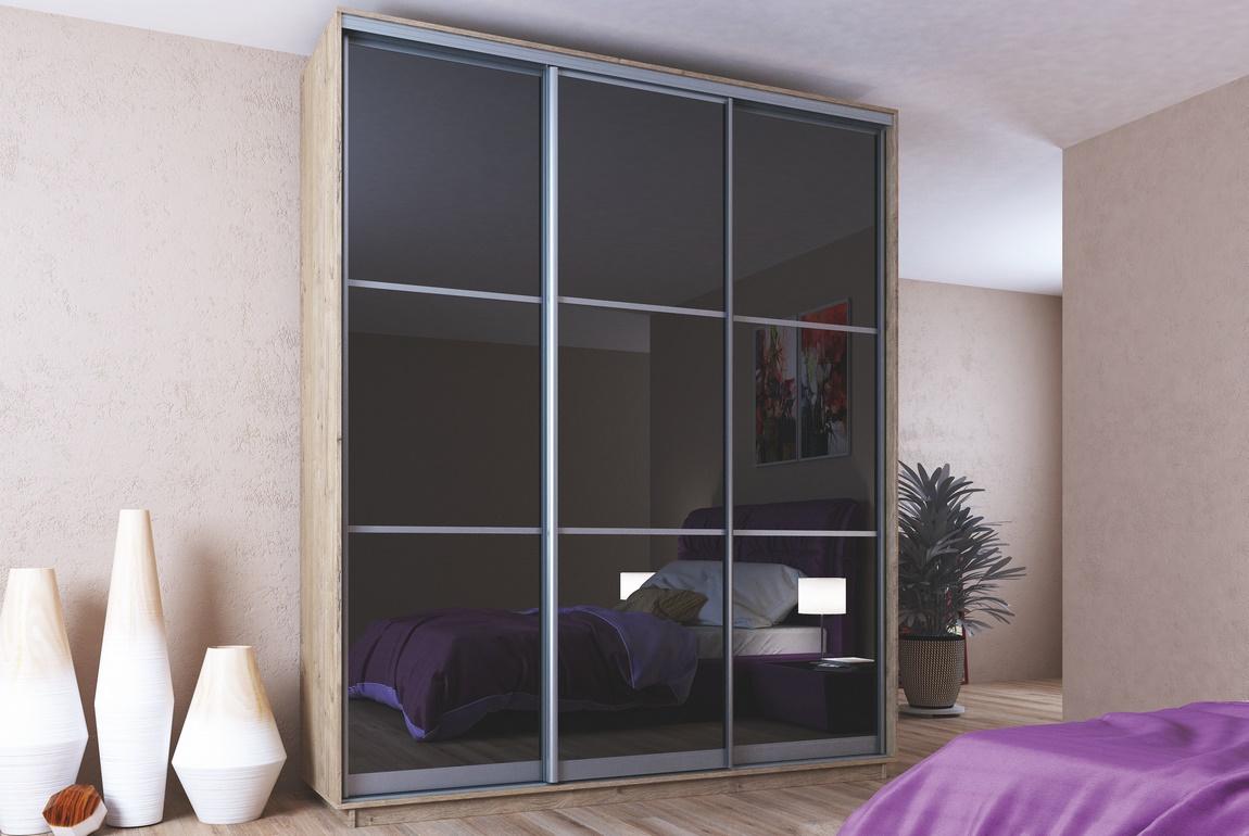 Šatní skříň s posuvnými dveřmi MIDNIGHT 200 sonoma/černá