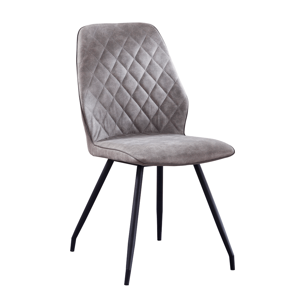 Jídelní židle, šedá látka s efektem broušené kůže, HERDA