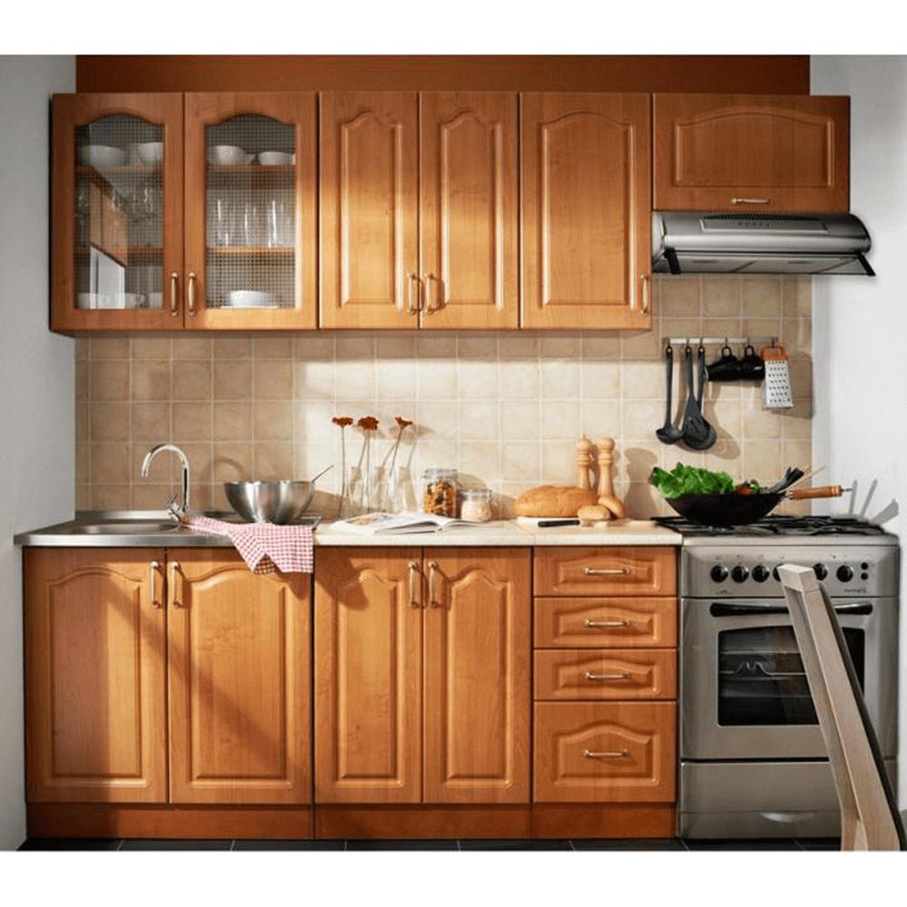 Kuchyňská sestava 240cm, olše, LORA MDF NEW KLASIK