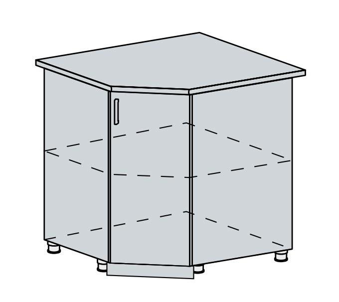 Kuchyňská linka VALERIA, více barev, na míru 90DRS d skříňka rohová VALERIA: wk/wenge