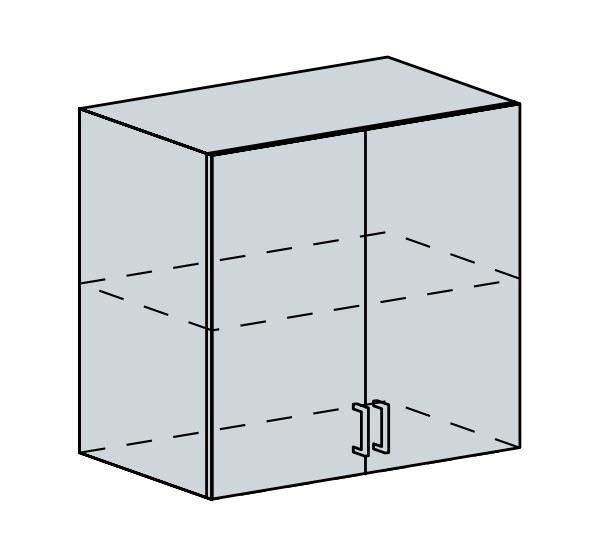 Kuchyňská linka VALERIA, více barev, na míru 80H h skříňka 2-dveřová VALERIA: wk/bílá lesk