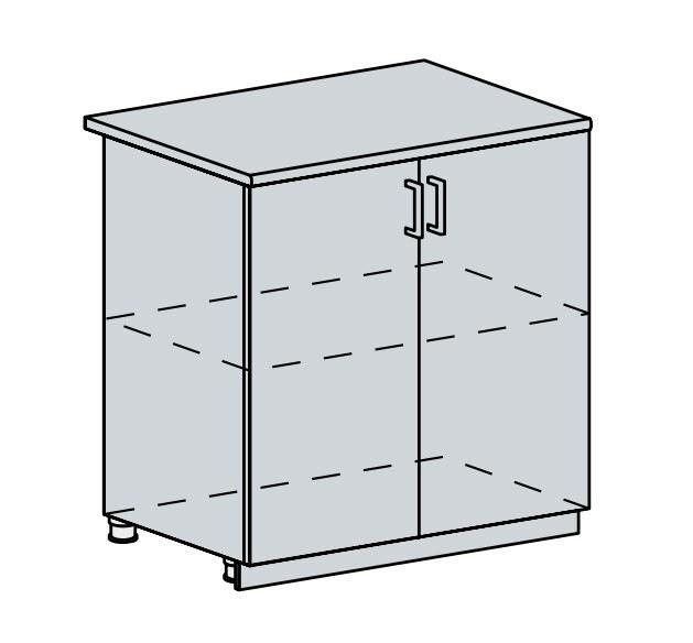 Kuchyňská linka VALERIA, více barev, na míru 80D d skříňka 2-dveřová VALERIA: wk/wenge