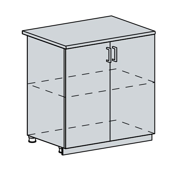 Kuchyňská linka VALERIA, více barev, na míru 80D d skříňka 2-dveřová VALERIA: wk/bílá lesk