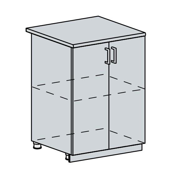 Kuchyňská linka VALERIA, více barev, na míru 60D d skříňka 2-dveřová VALERIA: bk/black stripe