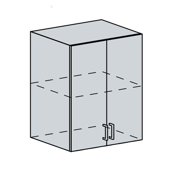 Kuchyňská linka VALERIA, více barev, na míru 60H h skříňka 2-dveřová VALERIA: wk/bílá lesk