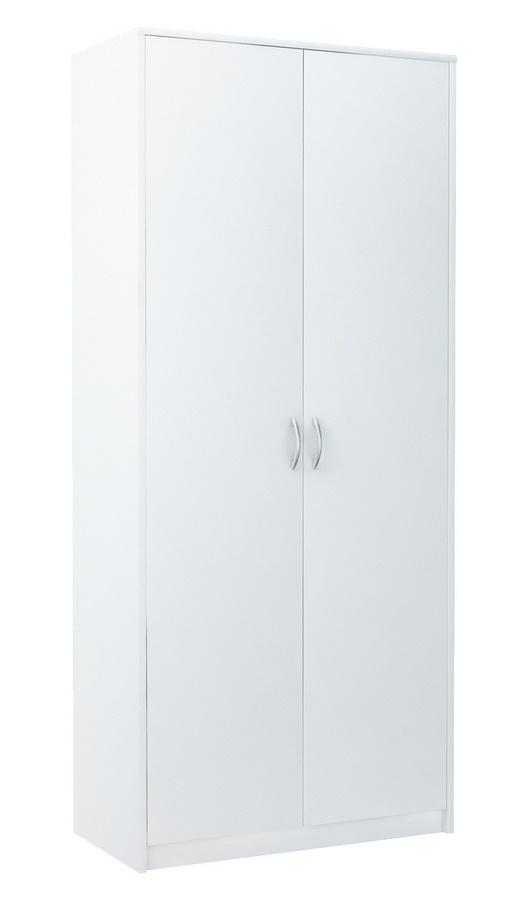 Šatní skříň 85 cm v bílé matné barvě KN840
