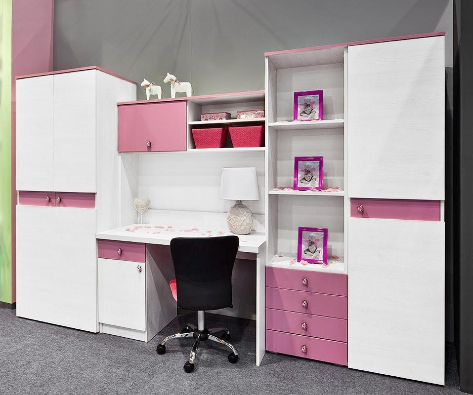 Dětská sestava v bílé a růžové barvě KN798