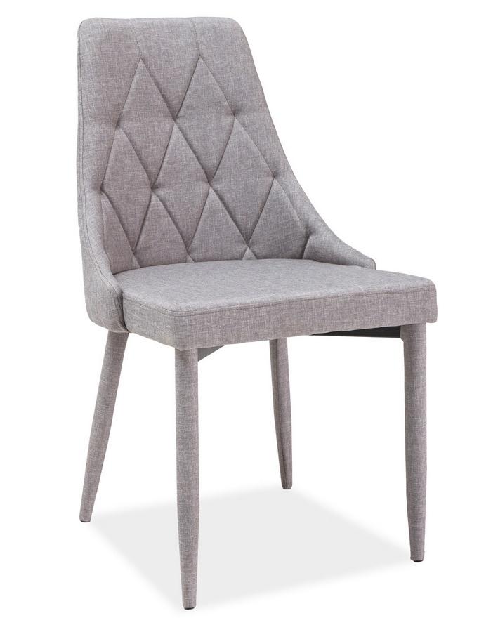 Jídelní židle s čalouněním v šedé látce KN398