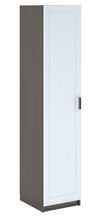 Úzká šatní skříň 45 cm s bílými dveřmi a korpusem wenge typ WK 901 KN750