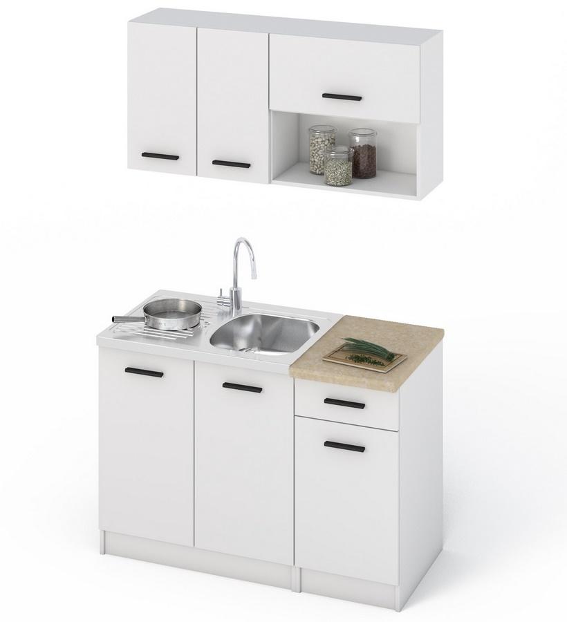 Kuchyňská linka 120 v bílé barvě KN412